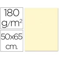 Cartulina 50x65 cm 180g/m2 crema