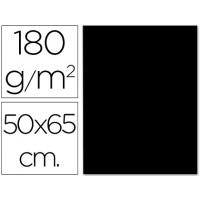 Cartulina 50x65 cm 180g/m2 negro