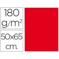 Cartulina 50x65 cm 180g/m2 rojo