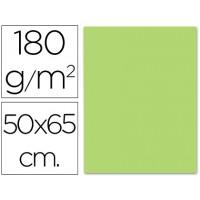 Cartulina 50x65 cm 180g/m2 verde claro