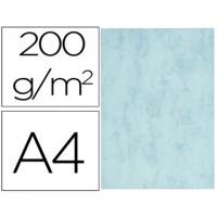 Cartulina marmoleada din a4 200 gr color azul paquete de 100 hojas.