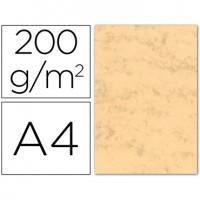 Cartulina marmoleada din a4 200 gr. Ocre paquete de 100 h.