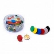 Chinchetas Apli colores caja de 50 unidades
