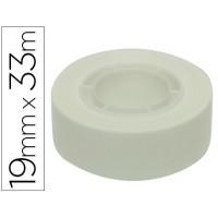 Cinta adhesiva apli 33 mt x 19 mm color blanco
