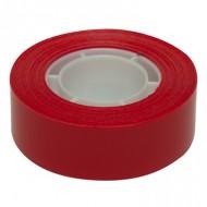 Cinta adhesiva apli 33 mt x 19 mm color rojo