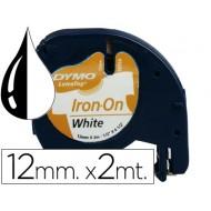 Cinta dymo 12mm para ropa maquina letratag