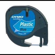 Cinta dymo 12mmx4mt -negro/ultra azul para maquina letratag