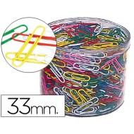 Clips colores bote de 1000 -bote de 1000