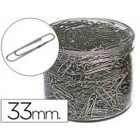 Clips niquelados n. 2 33 mm -cubilete de 1000 clips