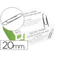 Clips niquelados q-connect nº1 20 mm caja de 100