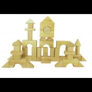 Cubo con 60 bloques de madera
