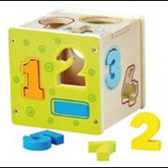 Cubo de madera Números