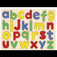 Encajable de números y letras de madera