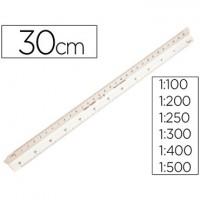 Escala faber plastico 153-b -1:100-200-250-300-400-500.