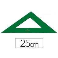 Escuadra faber 25 cm plastico verde