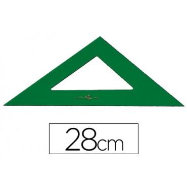 Escuadra faber 28 cm plastico verde