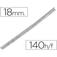 Espiral metalico q-connect 64 5:1 18mm 1,2mm