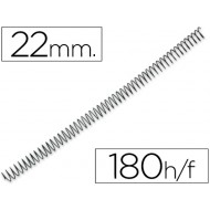 Espiral metalico q-connect 64 5:1 22mm 1,2mm
