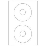 Etiqueta adhesiva q-connect kf01579 -tamaño cd-rom -fotocopiadora -laser -ink-jet-caja con 25 h/50 etiquetas