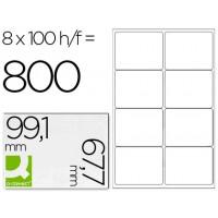 Etiqueta adhesiva q-connect kf01588 tamaño 99,1x67,7 mm fotocopiadora laser ink-jet caja con 100 hojas din a4