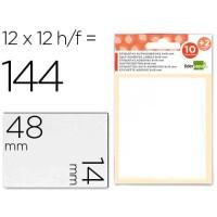 Etiquetas liderpapel sobre de 10 h. + 2 h. Obsequio 14x48 mm -10 unidades por hoja