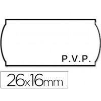 Etiquetas meto onduladas 26 x 16 mm pvp bl. Adh 2 -rollo 1200 etiquetas troqueladas