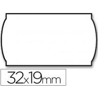 Etiquetas meto onduladas 32 x 19 mm lisa removible bl. -rollo 1000 etiquetas