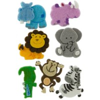 Figuras fieltro 3D modelo animales selva