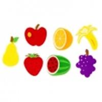 Figuras fietro 3d modelo frutas