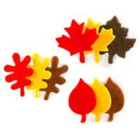 Figuras fieltro otoño 30 unidades