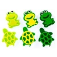 Figuras fieltro 3D modelo rana y tortuga