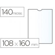 Funda portadocumento esselte plastico 140 micras tamaño 108x160 mm