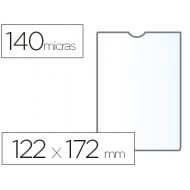 Funda portadocumento esselte plastico 140 micras 122x172 mm