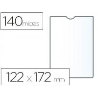 Funda portadocumento esselte plastico 140 micras 122x172 mm