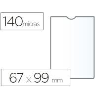 Funda portadocumento esselte plastico 140 micras tamaño 67x99 mm