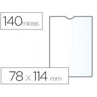 Funda portadocumento esselte plastico 140 micras tamaño 78x114 mm