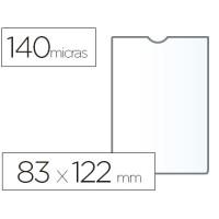Funda portadocumento esselte plastico 140 micras tamaño 83x122 mm