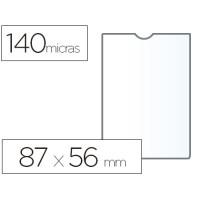 Funda portadocumento esselte plastico 140 micras tamaño 87x56 mm