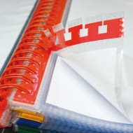 Funda multitaladro extraible In&Out Index Color rojo bolsa 5 unidades