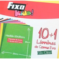 Pack 11 láminas Goma Eva Fixo Kids 2mm