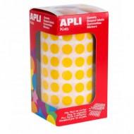 Gomets Circulares 10,5mm color Amarillo Apli ref 4851