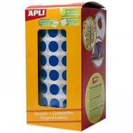 Gomets circulares 10,5mm color Azul Apli ref 4852