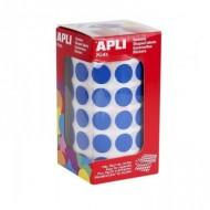 Gomets circulares 15 mm color Azul Apli ref 4856