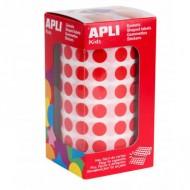 Gomets Circulares 10,5 mm color Rojo Apli Ref 4857