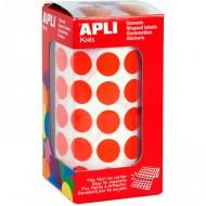 Gomets circulares 15 mm color Rojo Apli Ref 4857