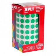 Gomets circulares 10,5mm color Verde Apli ref 4854