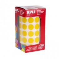 Gomets circulares 15 mm color Amarillo Apli ref 4855