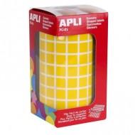 Gomets cuadrados 10x10 mm color Amarillo ref 4871