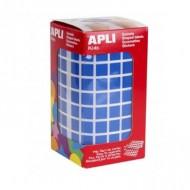 Gomets cuadrados 10x10mm color Azul Apli Ref 4872