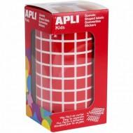 Gomets cuadrados 10x10 mm color Rojo Apli Ref 4873